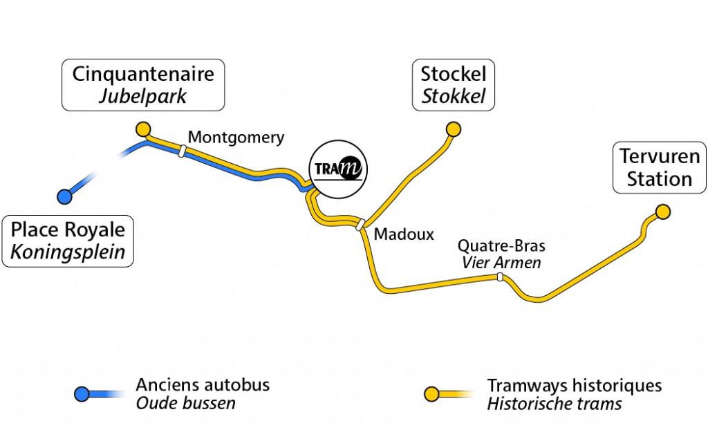 Lignes exploitées par le Musée